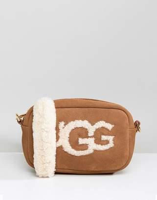 UGG Janey Chestnut Sheepskin Crossbody Bag