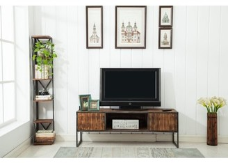 """Crawford & Burke Haight Natural Wood and Metal 60"""" Media Console"""