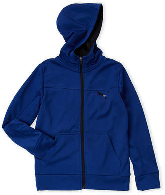 Puma Boys 8-20) Blue Zip-Up Hoodie