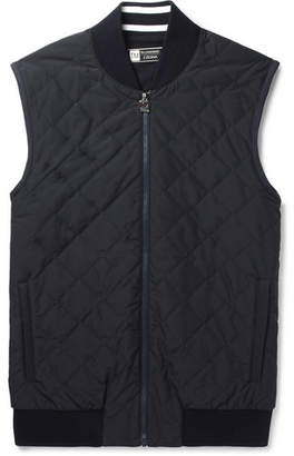 Z Zegna Quilted Shell And Techmerino Wool Gilet