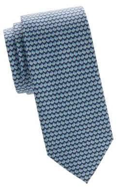 Salvatore Ferragamo Bird Printed Silk Tie