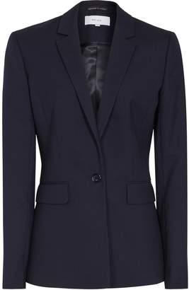 Reiss Faulkner Jacket - Single-breasted Blazer in Navy
