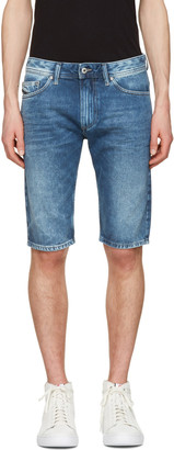 Diesel Blue Denim Thashort Shorts $150 thestylecure.com
