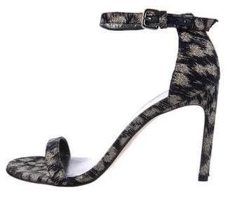 Stuart Weitzman Glitter Nudist Sandals