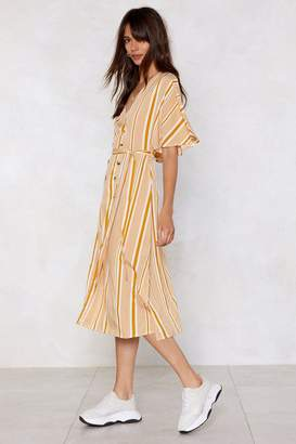 Nasty Gal That's Line By Me Striped Dress