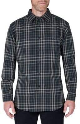 Haggar Regular-Fit Plaid Long-Sleeve Shirt