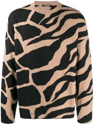 Roberto Cavalli animal-jacquard jumper