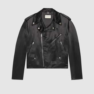 """Gucci """"Guccy Farmacia"""" acetate biker jacket"""