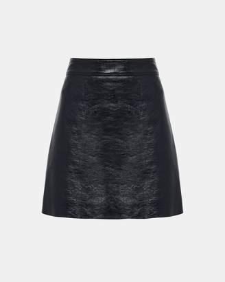 Theory Patent Leather Mini Skirt