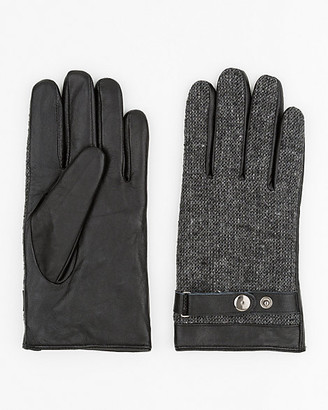 Le Château Leather & Wool Blend Gloves