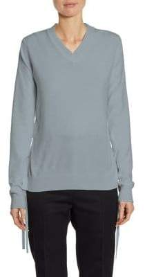 Jil Sander Lace-Up Cashmere Sweater