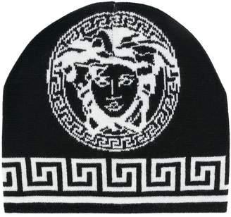 Versace logo knit beanie