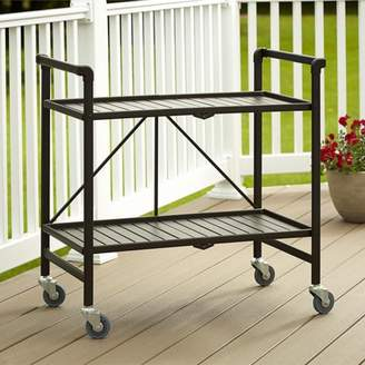 Cosco Metal Slat Folding Serving Cart