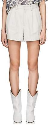 Isabel Marant Women's Kab Piqué Cotton-Linen Shorts - Light Gray
