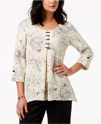 JM Collection Inverted-Pleat Crinkle Top, Created for Macy's