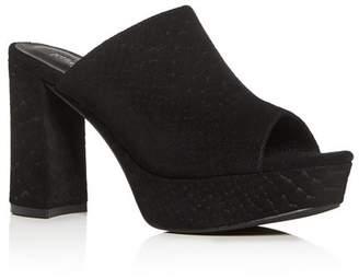 Jeffrey Campbell Women's Pilar Block High-Heel Platform Slide Sandals