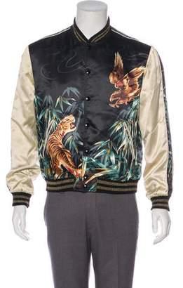 Saint Laurent 2016 Tiger Print Teddy Bomber Jacket
