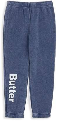 Butter Shoes Little Girl's Burnout Fleece Varsity Pants
