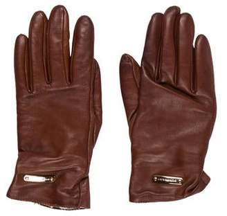 Burberry Logo Leather Gloves