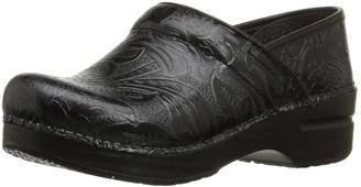 Dansko Women's Professional Tooled Clog,Black,38 EU/7.5-8 B(M) US
