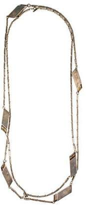 Isabel Marant Geometric Station Bar Link Necklace