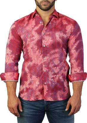 Maceoo Fibonacci Paisley Print Tailored Fit Dress Shirt