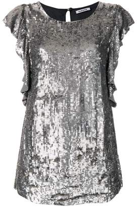 P.A.R.O.S.H. long line sequinned top