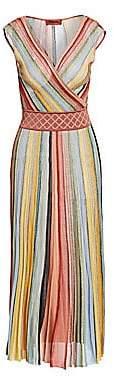 Missoni Women's Multicolor Stripe Sleeveless A-Line Dress