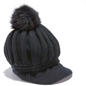 La Redoute COLLECTIONS Peaked Beanie with Bobble 69b190533d0