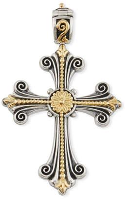 Konstantino Sterling Silver & 18K Fleur Cross Pendant