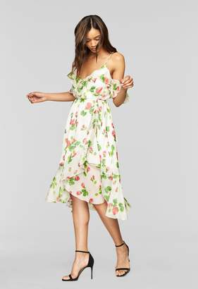 MillyMilly Floral Print Ruffle Wrap Dress