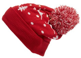 Women's Collection Xiix Snowy Lights Beanie - Red $32 thestylecure.com