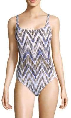 Gottex Swim One-Piece Chevron Swimsuit