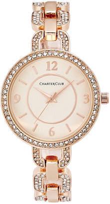 Charter Club Women Pave Rose Gold-Tone Bracelet Watch 33mm