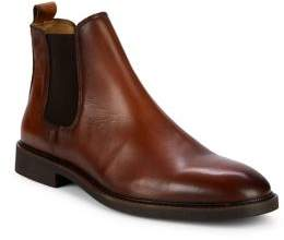 Black & Brown Black Brown Leather Chelsea Boots