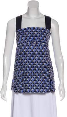 Prada 2016 Printed Sleeveless Top