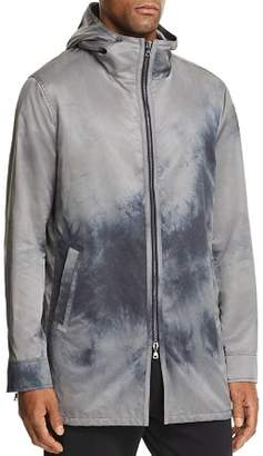 John Varvatos Collection Acid-Washed Hooded Zip-Front Parka