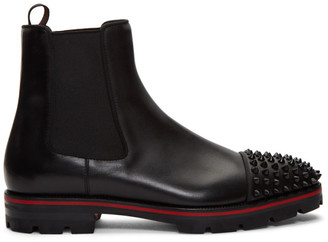 Christian Louboutin Black Melon Spikes Chelsea Boots