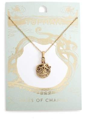 Topman Mens Gold Octopus Necklace*
