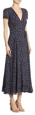 Polo Ralph Lauren Floral-Print Cotton Wrap Dress $398 thestylecure.com