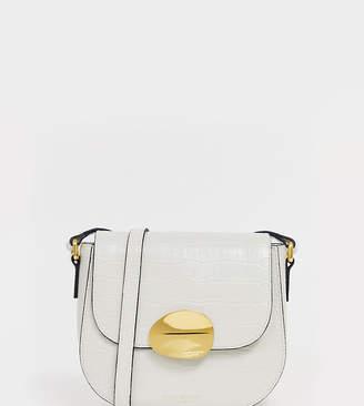 a8da5e79169 Kurt Geiger London Petal leather cross body bag in white