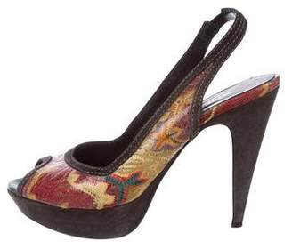 Missoni Patent Leather Slingback Pumps