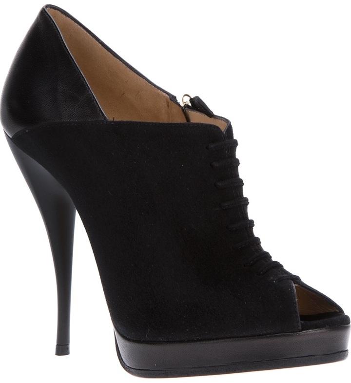Viktor & Rolf peep toe stiletto shoe
