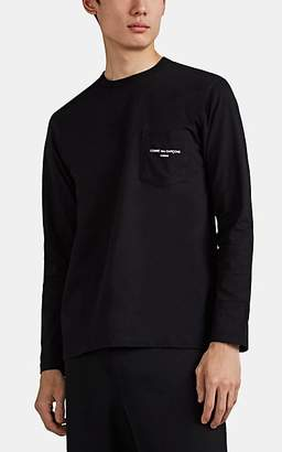 Comme des Garcons Homme Men's Logo-Pocket Cotton Long-Sleeve T-Shirt - Black
