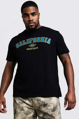 boohoo Big And Tall California Print T-Shirt