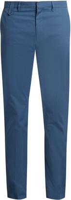 STELLA MCCARTNEY Straight-leg cotton-gabardine chino trousers $280 thestylecure.com