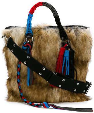 Sacai fluffy wide tote bag
