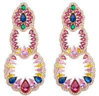 Eye Candy La Candice Cubic Zirconia Tiered Earrings