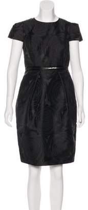 Carmen Marc Valvo Short Sleeve Knee-Length Dress