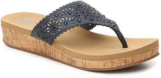 Yellow Box Korinda Wedge Flip Flop - Women's